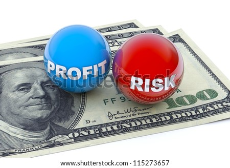 Business concept, profit and risk