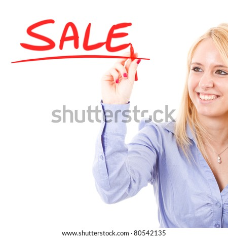 Business concept: sale - stock photo