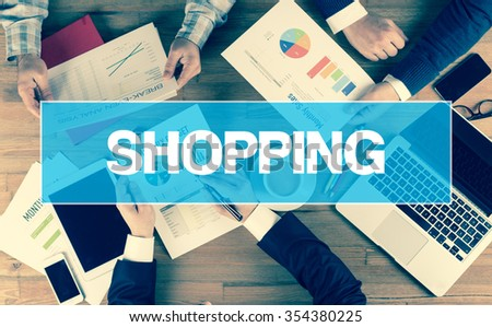 Business Concept: SHOPPING - stock photo