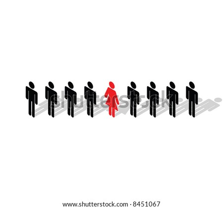 Business Concept - Stand out from the crowd. Be different