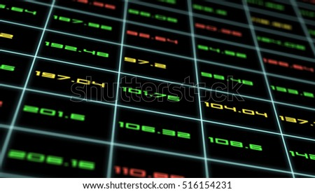 business concept,stock market data
