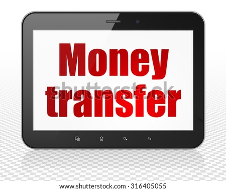 Business concept: Tablet Pc Computer with red text Money Transfer on display - stock photo