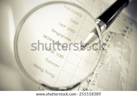 Business Concept,trend of the stock,vintage effect - stock photo