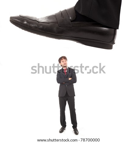 Business concept: unexpected trouble - stock photo