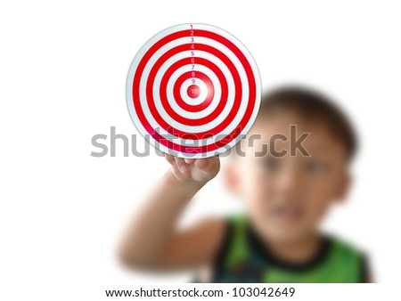 business concept with business person , modern style, On red target.