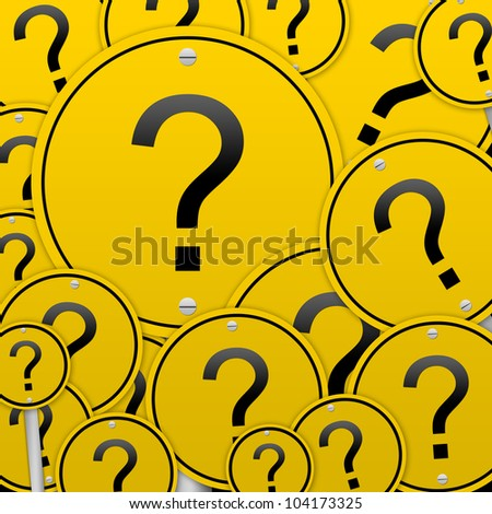 Business Concept With The Circle Question Mark Road Sign - stock photo