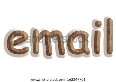 Business concept:  wooden word email on white background - stock photo