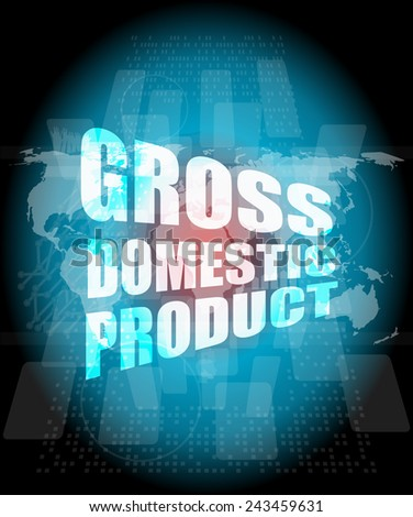 business concept: word gross domestic product on digital screen - stock photo