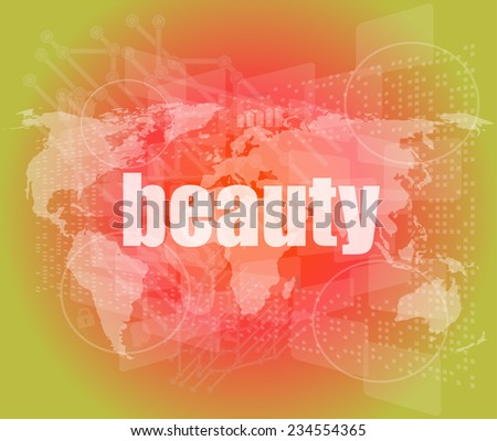 business concept: word innovation on business digital touch screen - stock photo