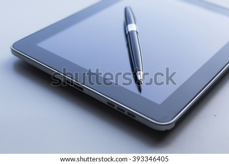 Business concept, work on tablet