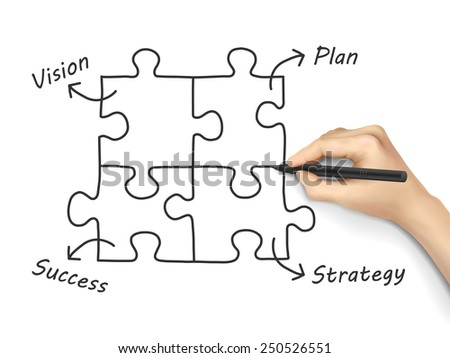 business concept written by 3d hand over white background - stock photo