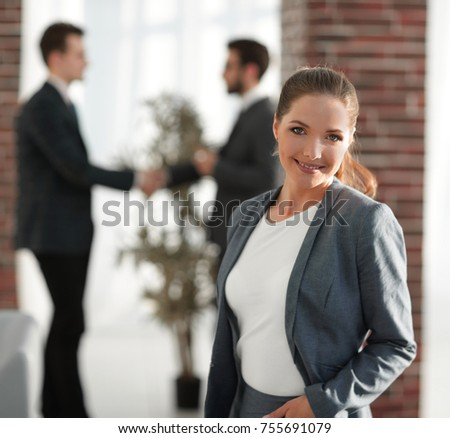 business concept.young business woman