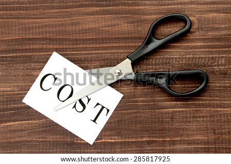 Business concepts, cost cut - stock photo