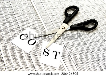 Business concepts, cost cut