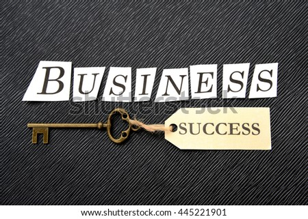 Business concepts, key to success - stock photo