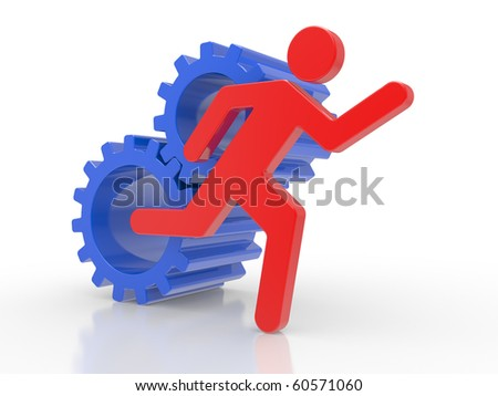 Business concepts, leadership 3d Illustration - stock photo