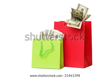 business concepts - money in box - stock photo