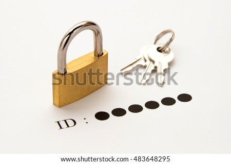 Business concepts, protection for ID password