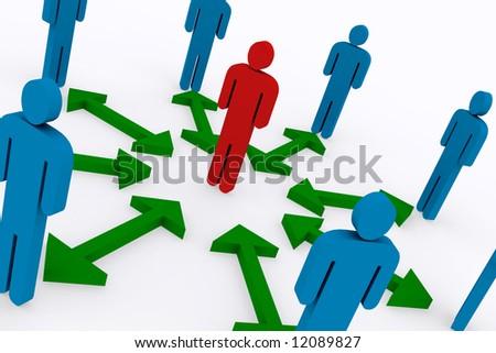 Business concepts, teamwork 3d Illustration - stock photo