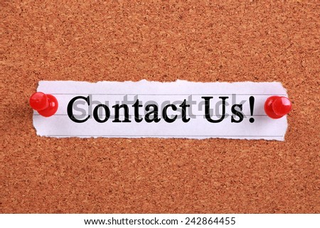 Business conceptual image about contact us. - stock photo