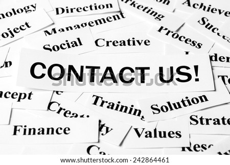Business conceptual image about contact us.