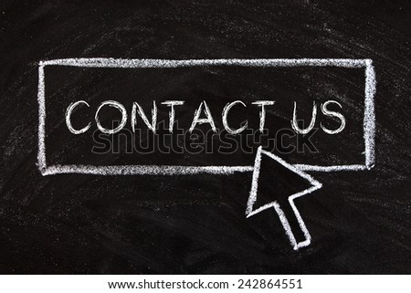 Business conceptual image which is about the topic of contact us. - stock photo