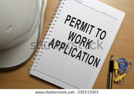 Business conceptual - Safety at workplace focusing on Permit To Work Application