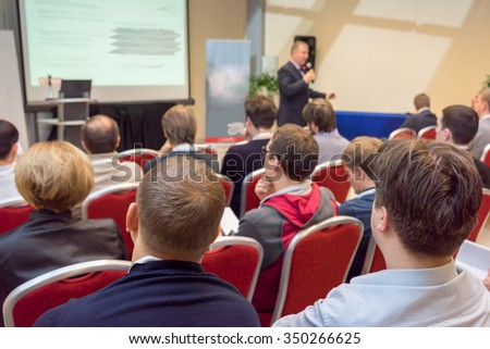 business conference - stock photo