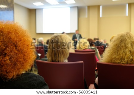 Business conference. - stock photo