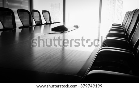 Business conference room in Black and white tone / For  business grow concept