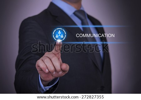 Business Connection and Communication - stock photo