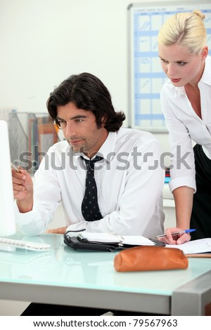 Business connections - stock photo