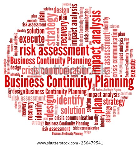 Business Continuity Planning in word collage - stock photo