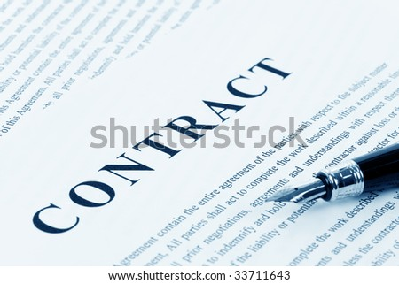 Business Contract and pen close up - stock photo