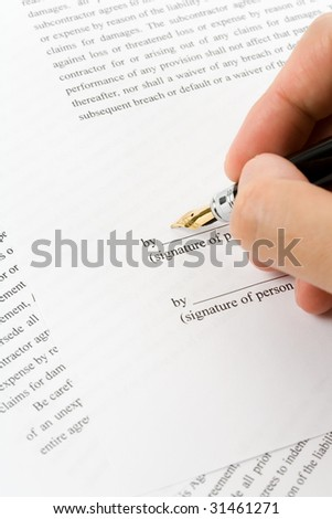 Business Contract and pen close up, sign a contract
