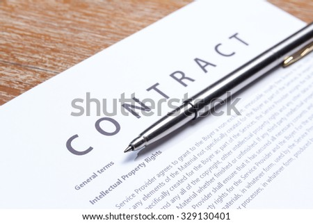 business contract document paper