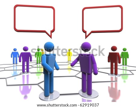 Business conversation (with emphasis on diversity) - stock photo
