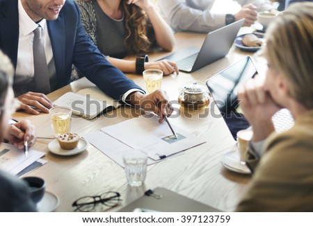 Business Corporate Management Planning Team Concept - stock photo
