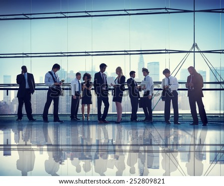 Business Corporate People Digital Communication Connection Concept - stock photo
