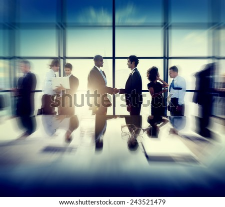Business Corporate People Partnership Meeting Discussion Concept - stock photo