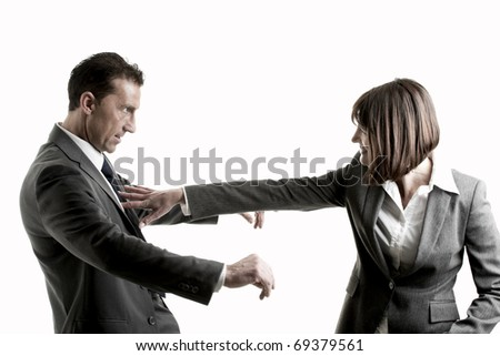 Business Couple problems - stock photo