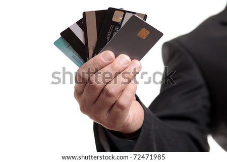 Business credit - stock photo
