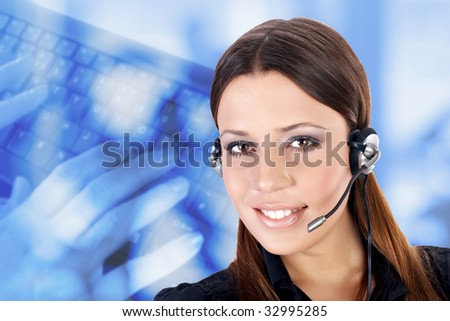 Business customer support operator. - stock photo