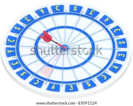 Business darts. - stock photo