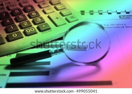 Business data analyzing to discuss the situation on the market. business strategy as concept in stock photo.