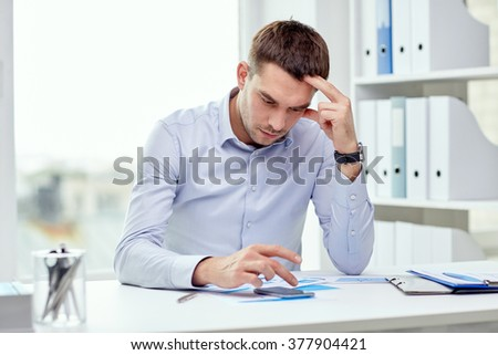 business, deadline, people and technology concept - close up of businessman with smartphone