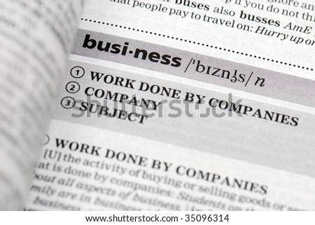 Business definition in close-up