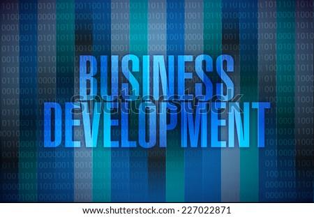 business development binary blue background illustration design - stock photo