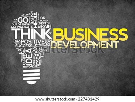 Business development concept - stock photo