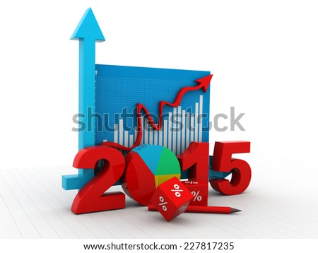 Business diagram 2015 - stock photo